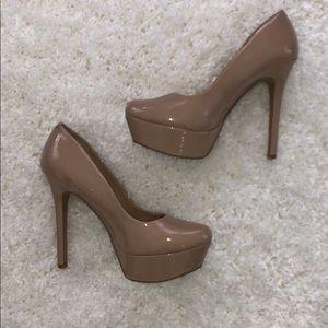 Jessica Simpson Nude Platform Heels